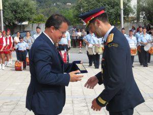 O comandante da corporação, Noel Ferreira recebeu um voto de louvor do corpo ativo